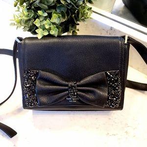 Kate Spade Black Crossbody Bag with Rinestone Bow